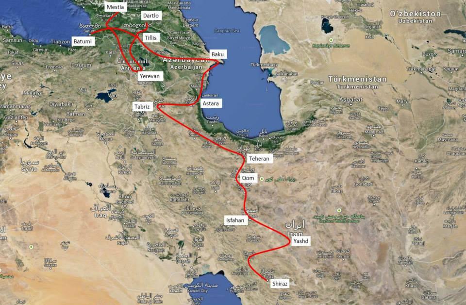 Iran und Caucasus
